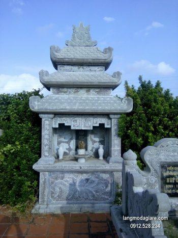 Mẫu mộ đá xanh khối chất lượng cao giá tốt thiết kế cao cấp