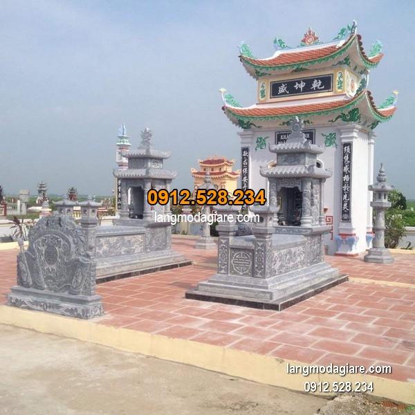 Mẫu mộ đá xanh khối chất lượng cao giá rẻ thiết kế cao cấp
