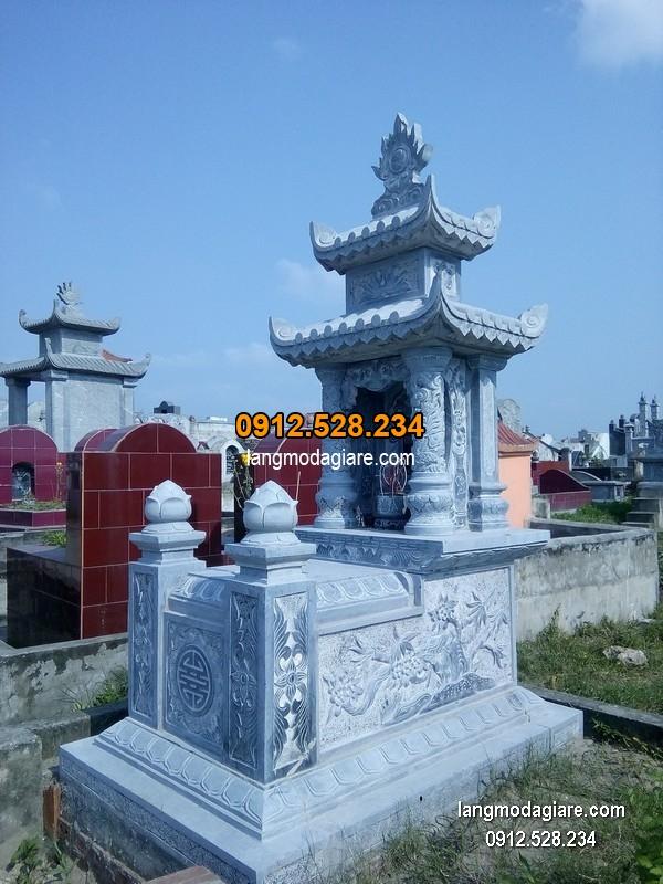 Mẫu mộ đá xanh khối đẹp chất lượng cao giá rẻ thiết kế cao cấp