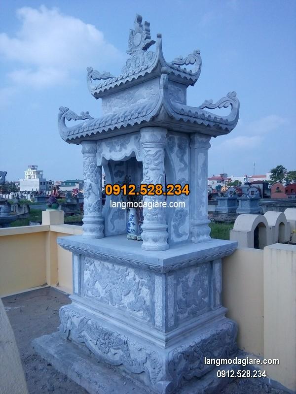 Mẫu mộ đá xanh khối đẹp chất lượng cao giá tốt thiết kế hiện đại