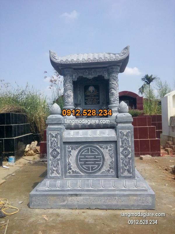 Mẫu mộ 1 mái đá xanh đẹp nhất chất lượng tốt giá rẻ thiết kế đơn giản