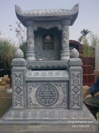 Mẫu mộ một mái đá xanh đẹp nhất chất lượng tốt giá tốt thiết kế hiện đại