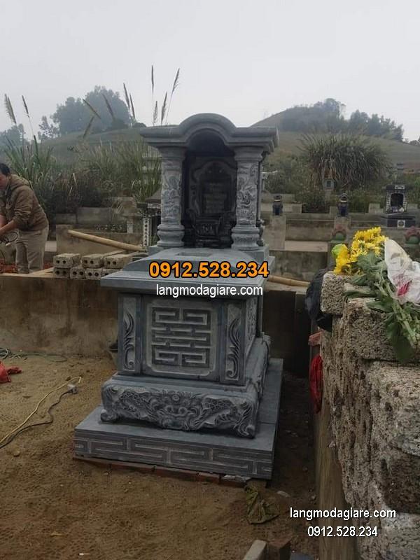 Mẫu mộ 1 mái đá xanh đẹp nhất chất lượng tốt giá hợp lý thiết kế hiện đại