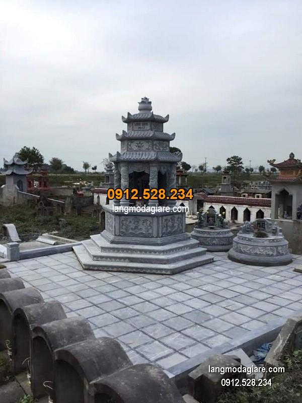 Mộ đá tháp xanh đẹp nhất chất lượng cao giá tốt