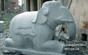Tượng voi đá phong thủy đẹp chất lượng tốt giá hợp lý