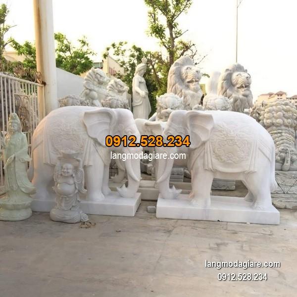Tượng voi đá phong thủy đẹp nhất chất lượng cao giá tốt