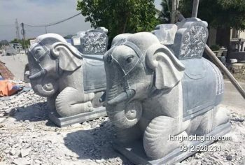 Tượng voi đá phong thủy đẹp nhất chất lượng cao giá hợp lý