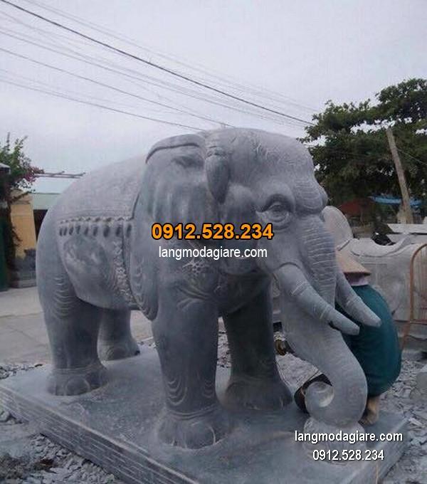 Tượng voi đá phong thủy đẹp nhất chất lượng tốt giá rẻ