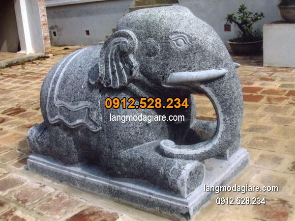 Tượng voi đá phong thủy đẹp nhất chất lượng tốt giá hợp lý