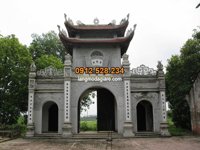 Cổng đền chùa dùng để làm đẹp công tình và giới thiệu tên của công trình