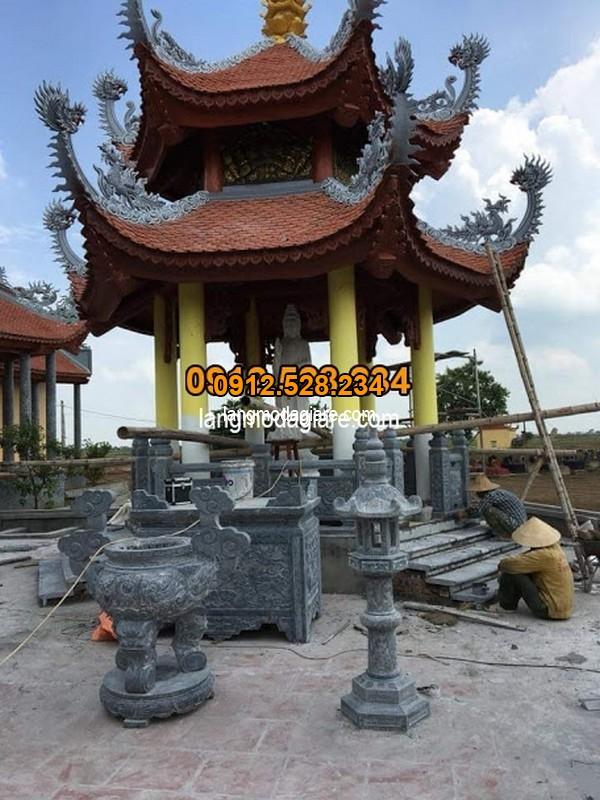 Cách sử dụng lư hương đá đẹp trong đình chùa