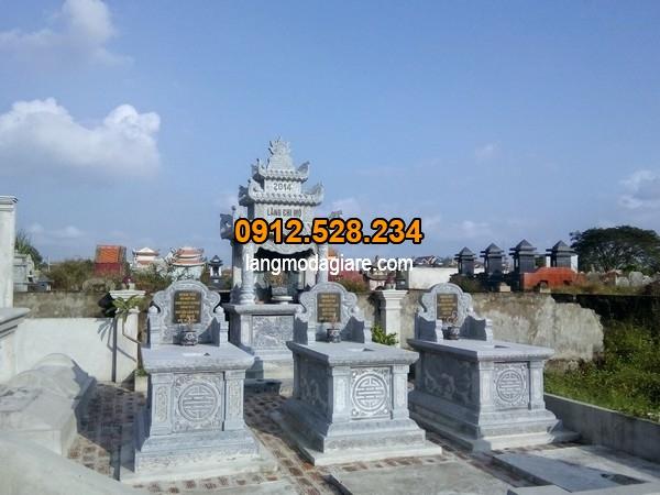 Mẫu mộ xây đơn giản đẹp tại khu lăng mộ