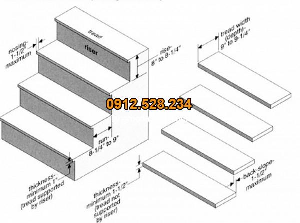 Thiết kế bậc tam cấp cầu thang chuẩn phong thủy
