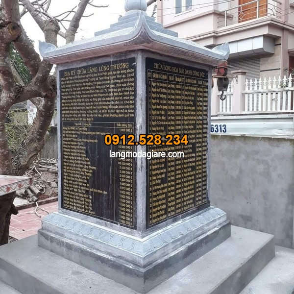 Bia mộ bằng đá đẹp tại Ninh Bình