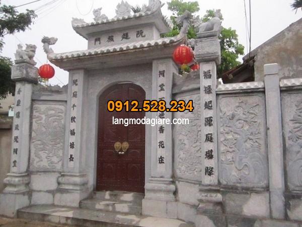 Cổng đá đẹp tại Ninh Vân