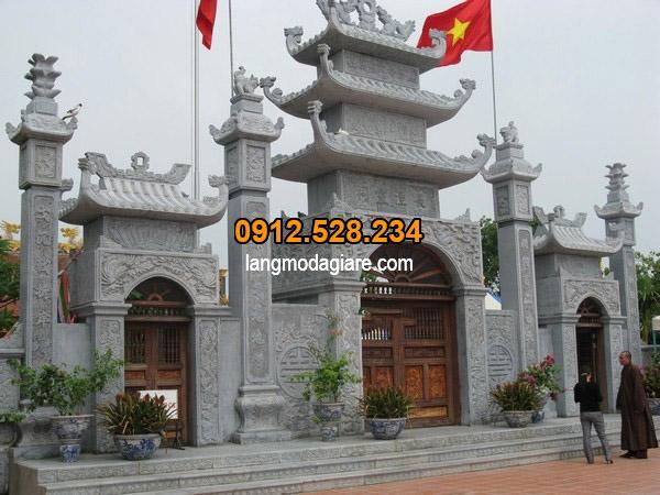 Cổng đình chùa đá đẹp Hà Tĩnh