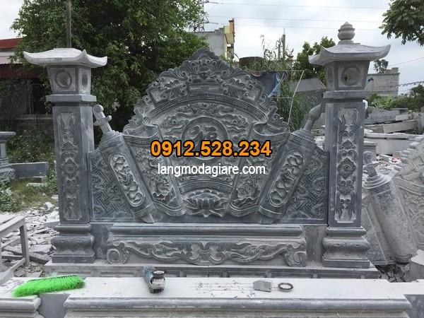 Mộ đá xanh đen đẹp tại Ninh Vân