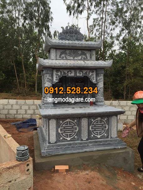 Kích thước chuẩn phong thủy mộ đá hai mái