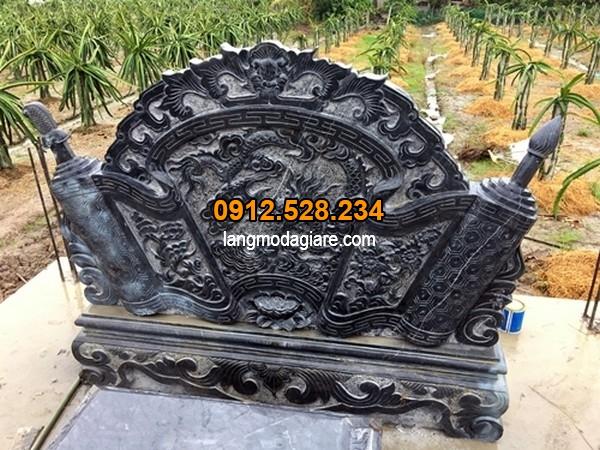 Bình phong được làm từ đá xanh đen cao cấp
