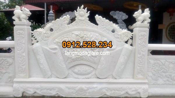 Bình phong được làm từ đá trắng đẹp nhất Việt Nam