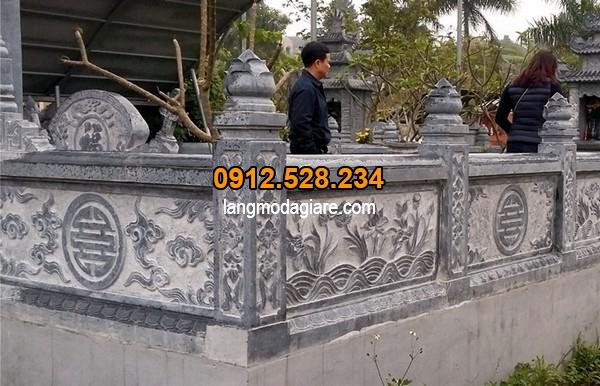 Lan can bằng đá dành cho đền chùa