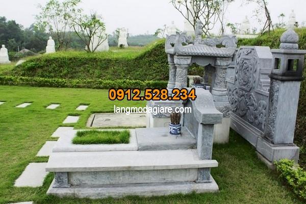 Mẫu lăng mộ đá có nét đẹp độc đáo tại Ninh Vân