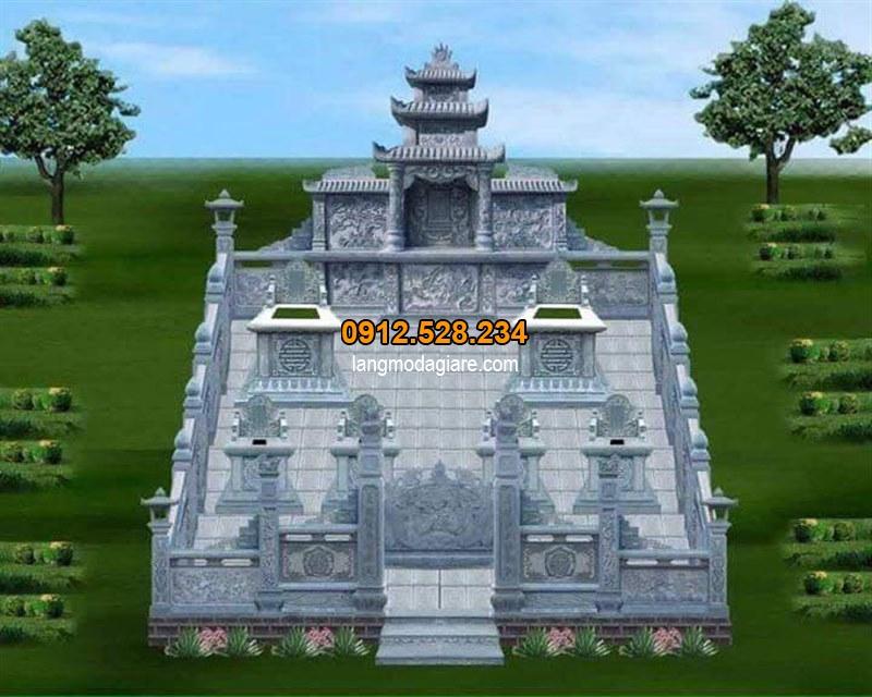 Bản vẽ khu lăng mộ đá đẹp