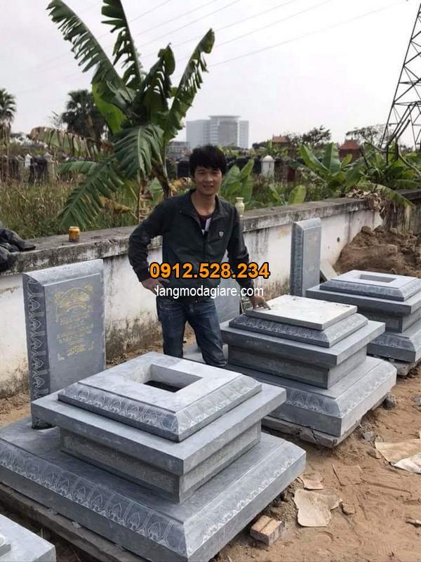 Các mẫu mộ xây theo kích thước phong thủy