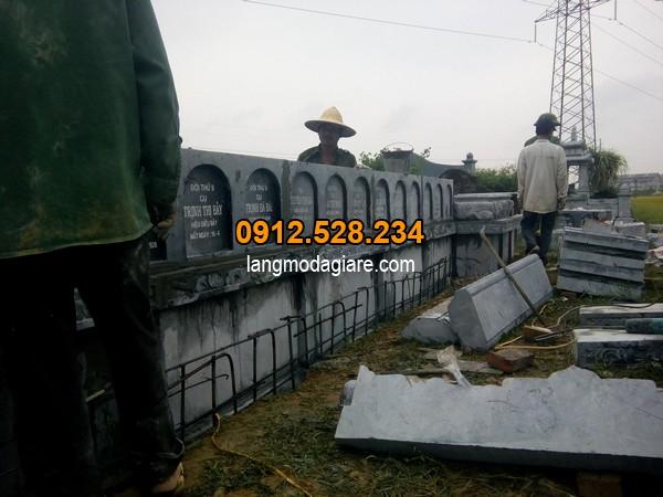Khu mộ xây đẹp, thiết kế chuẩn theo phong thủy