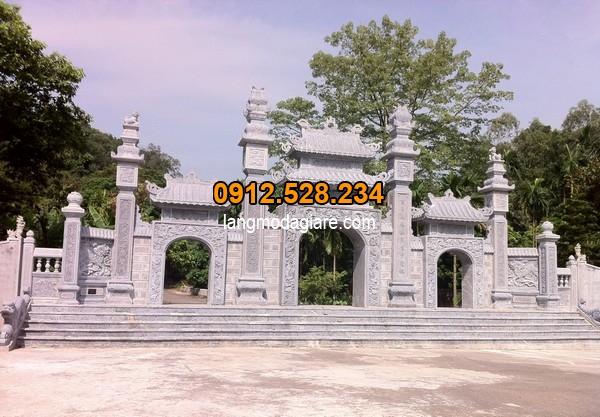 Thiết kế cổng tam quan có kích thước chuẩn thước lỗ ban