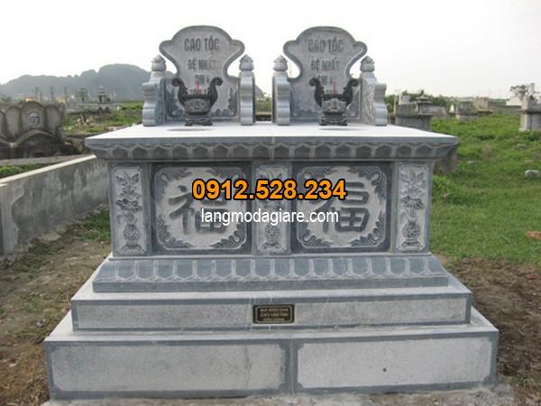 Mộ đá đôi được chạm khắc hoa văn tinh xảo tại Ninh Vân