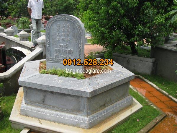 Mẫu mộ lục lăng trạm khắc đơn giản