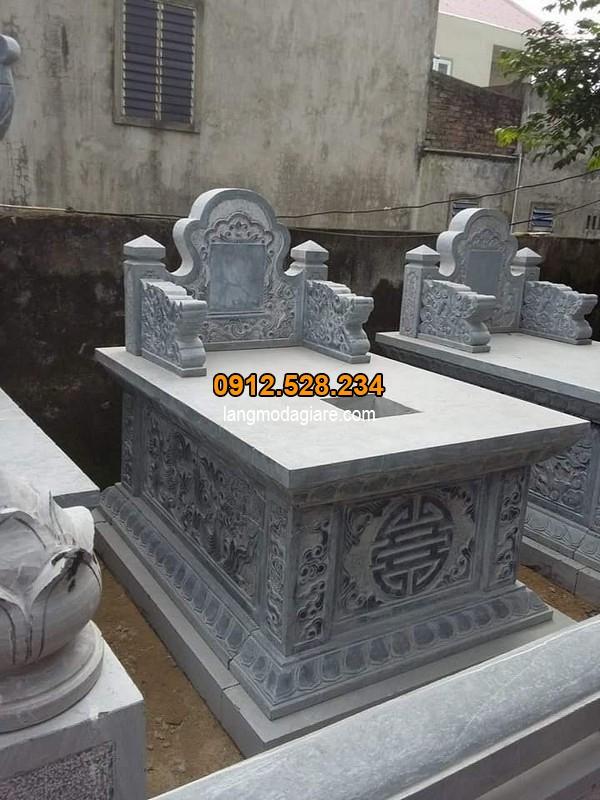 Mẫu mộ đá bành với thiết kế đơn giản