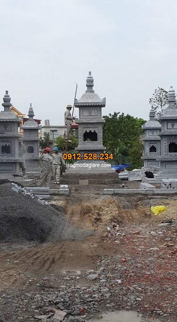 Đá mỹ nghệ Ninh Vân xây dựng mộ đá tháp