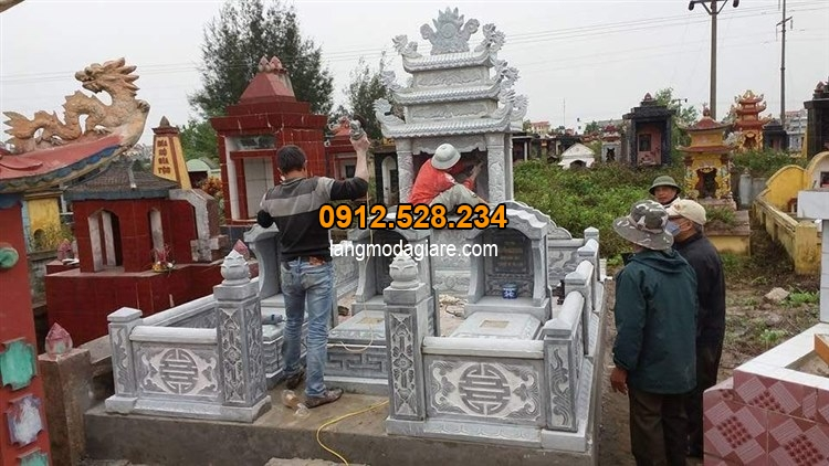 Thiết kế khu lăng mộ đá tại nghĩa trang