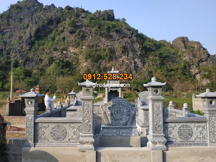 Các mẫu khu lăng mộ gia đình bằng đá giá rẻ nhất hiện nay