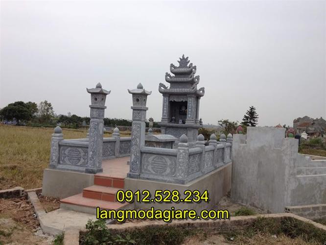Lăng mộ đá đẹp đơn giản, Xây mẫu lăng mộ đá gia đình đẹp đơn giản nhất Việt Nam