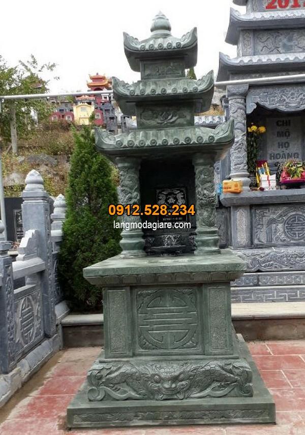 Giá thành mới nhất của lăng mộ đá xanh rêu