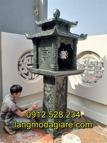 Mẫu bàn thờ ông thiên bằng đá xanh rêu cao cấp