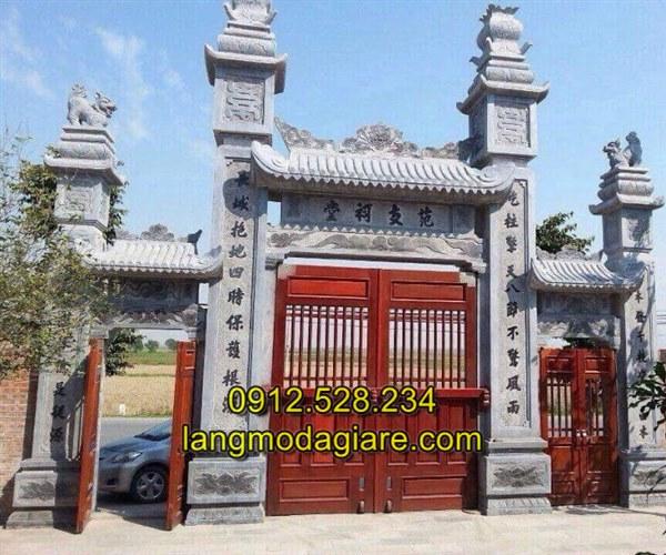 Mẫu cổng đá nhà thờ họ thiết kế đẹp chất lượng tốt giá tốt