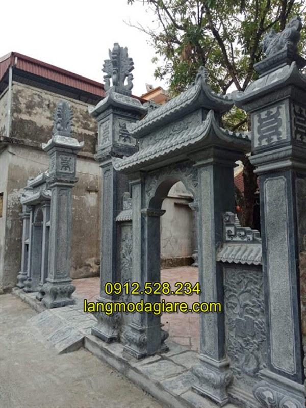 Mẫu cổng tam quan đá nhà thờ họ đẹp nhất hiện nay