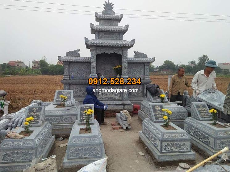 Mẫu khu lăng mộ bằng đá chất lượng cao
