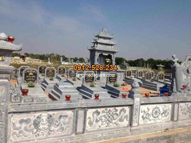 Mẫu khu lăng mộ bằng đá được chế tác tại Ninh Vân