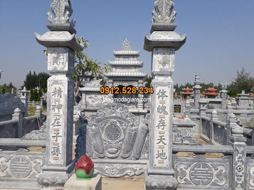 Mẫu khu lăng mộ gia đình bằng đá đẹp nhất hiện nay