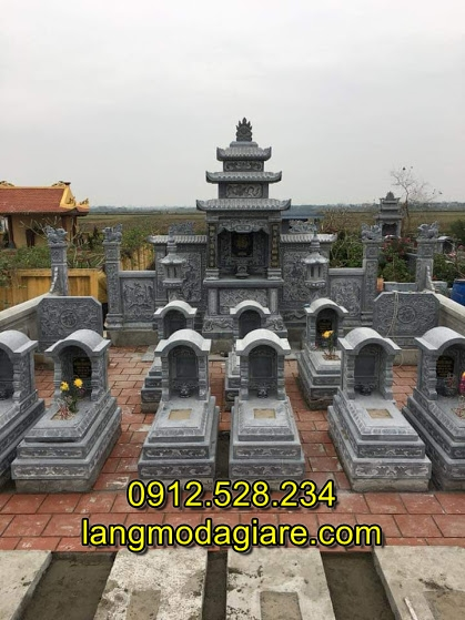 Mẫu lăng mộ đá đẹp cho gia đình, Xây mẫu lăng mộ đá gia đình đẹp đơn giản nhất Việt Nam