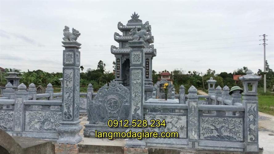 Xây lăng mộ đá gia đình đẹp đơn giản nhất Việt Nam