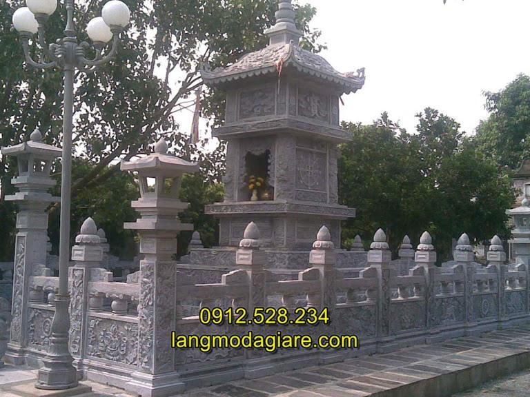 Mẫu lăng mộ tháp đá phật giáo, Mẫu mộ tháp đá cho người theo đạo phật
