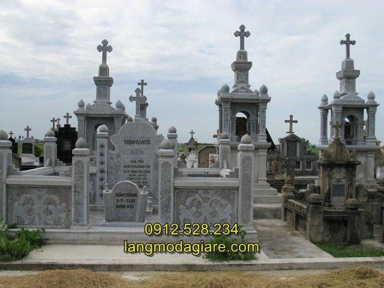 Mẫu lăng thờ đá công giáo đẹp, Mộ đá công giáo- Mẫu mộ của người theo đạo thiên chúa giáo