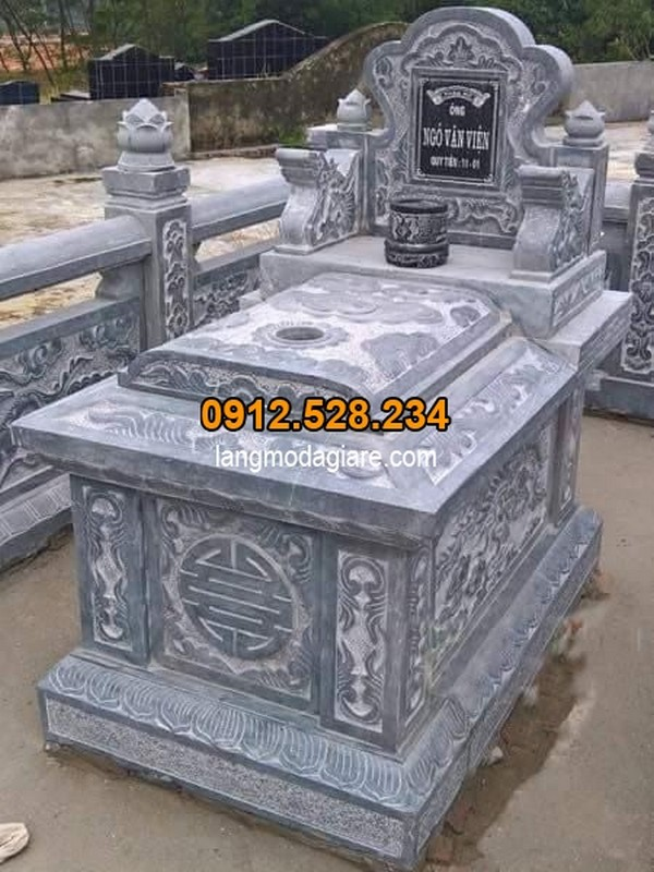 Mẫu mộ đá không mái đẹp chuẩn phong thủy