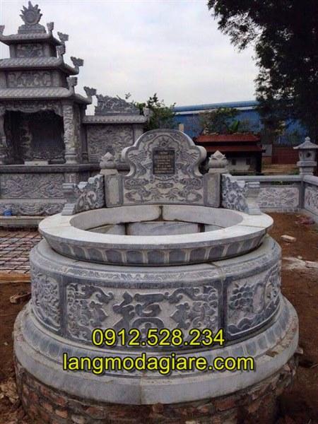 Mẫu mộ tròn trạm khắc hoa văn tinh tế